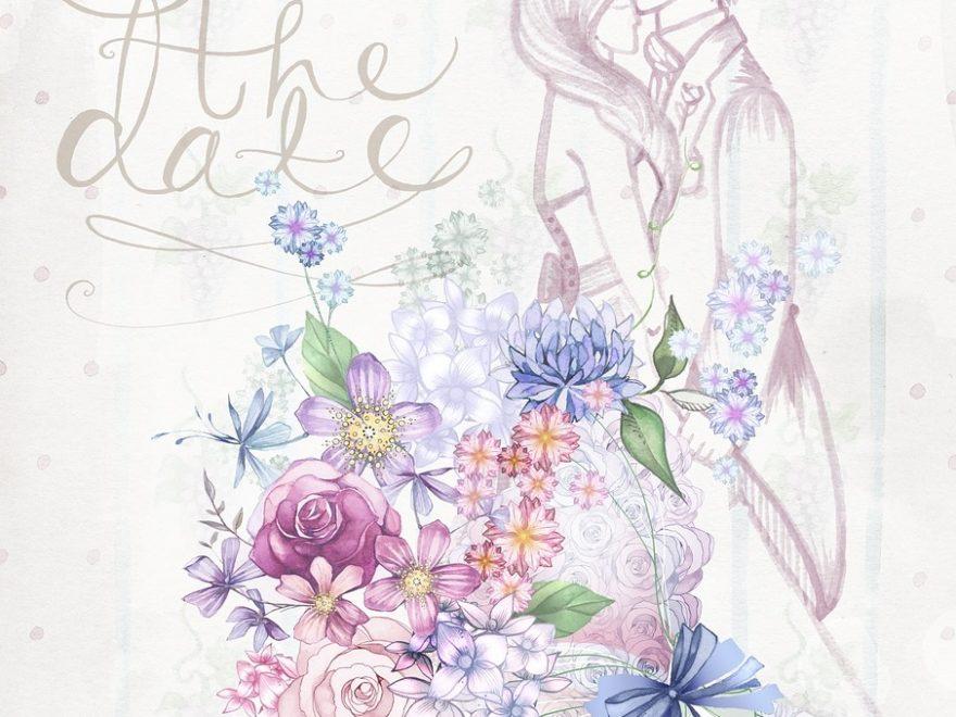 Zaproszenia ślubne I Kwiatowe Motywy Drukowanie I Nie Tylko